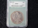 Carson City-1883-MS-64 Morgan silver dollar