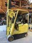 COMING SOON - Hyster Fork lift Triple level Model# E-40B-31 & Charging unit Pac Chloride Ferrocharger -  Runs great per owner