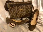 CAROLINE HERRERA PURSE NEW AND FRANCO SARTO SHOES