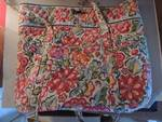 Vera Bradley floral quilted tote ba...
