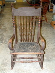 Antique Oak Rocker From Dodge City Kansas Estate