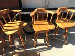 Bar height chairs - made of Maple ...