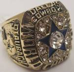 1971 DALLAS COWBOYS / ROGER STAUBACH SUPER BOWL REPLICA RING