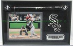 Jermaine Dye signed baseball bat diorama with COA