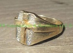 10kt gold crucifix ring