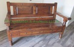 Vintage style Spanish design entry hall bench