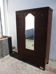 Vintage 3-section Armoire / Wardrobe