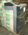 Pallet of Elite Lighting baffle rings & Georgia Pacific paper towel dispensers