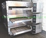 Lincoln Impinger stainless steel triple stack commercial pizza ovens