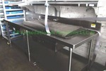 Stainless steel commercial utility table with upper shelf