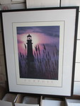 Framed Lighthouse Print-Pur Pose.
