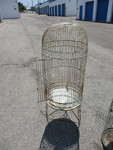 2-Bird Cages. 1-vintage and 1 shop/Home Made.