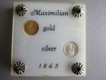 1-Gram Gold and 1-Gram Silver Coins In Plastic Case.