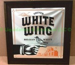 Shiner White Wing framed wall mirror