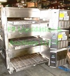 Lincoln Impinger stainless steel triple stack commercial conveyor pizza ovens