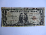 Rare-1935-A One Dollar Silver Certificate-Hawaii Overprint Brown Seal.