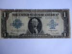 1923-Series, Large Note-One Dollar Silver Certificate -Horse Blanket- Blue Seal