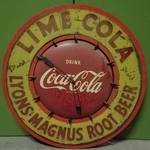 VINTAGE COCA-COLA ADVERTISING CLOCK MODEL 608 (CIRCA 1950'S)