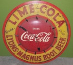 VINTAGE COCA-COLA PROMOTIONAL CLOCK MODEL 608 (CIRCA 1950'S)