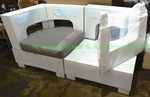 Modern moduler sectional chair, missing cushions