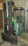 Clark Equipment TM15S Electric Forklift with side shift forks. May need new batteries. Matches lot 112