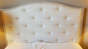 Queen Headboard with Linen/Silk Upholstery