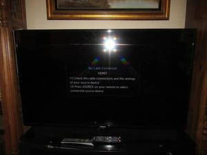 "SAMSUNG 55"" TELEVISION MODEL# UN55H6203AF WITH REMOTE. TESTED AND WORKS!"