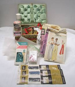 Sewing basket full of supplies