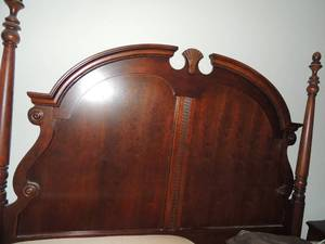 "King bed Head board  79""w x 77""t x 4""deep, Footboard  80""l x 4""deep 47 T, Side rails 82""L x 5""t x 1""w"