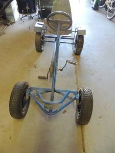 4 wheel pedal go cart blue adult or older child