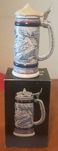 "VINTAGE 1981 AVON ""FLYING CLASSICS"" CERAMIC STEIN (BRAND NEW)"