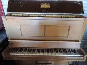 PLAYER PIANO Brinkerhoff Piano Company Chicago Bell Metal frame model# 208320