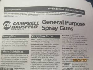 NEW CAMPBELL HAUSFELD GENERAL PURPOSE SPRAY GUN