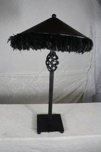 Black Feather Lamp