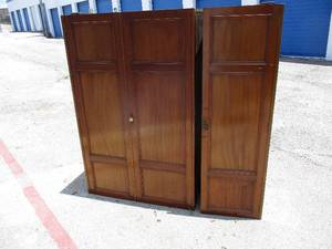 Vintage 3-Section Gents Chest/ Armoire