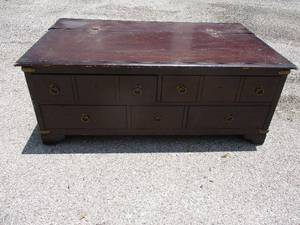 Vintage  Coffee Table With Drawers, And Hidden Magazine Rack/ Storage