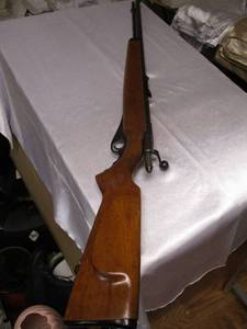 O.F. Mossberg and Sons Model 46M(a) Tube feed, Bolt Action-22 (Uses S-L-LR , Ammo) Rifle.