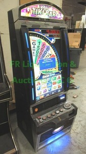 Bally Alpha V32 cash spin with MEI bill acceptor Slick's Tiki bar slot machine