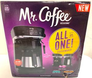 Mr Coffee All in One - Coffeemaker, Espresso and Single Serve NEW
