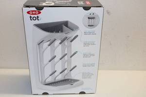 Oxo Tot Baby Bottle Drying Rack with Brush NEW