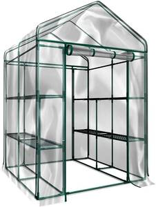 Home-Complete Walk-in Greenhouse- Indoor Outdoor with 8 Sturdy Shelves NEW