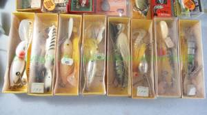 Vintage The Citation by Johnson fishing reel, fishing lures in original boxes plus