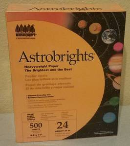 ASTROBRIGHTS HEAVYWEIGHT COLOR PAPER (NEW)