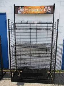 Large 6-Shelf-Adjustable -Display Rack With Removable-Top Sign Slot