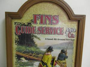 FINS Guide Service And Co. 3-D Fishing Wall Art Sign