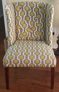 "ACCENT UPHOLSTERED CHAIR (26"" W x 24"" D x 39"" H) **MATCHES LOT #42**"