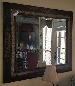 "LARGE SIZE WALL MIRROR (42 1/2"" W X 38 1/2"" H)"
