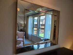 Triangle Mirror Framed Wall Mirror