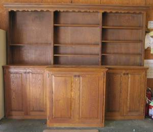 Very Large wood cabinet with hutch