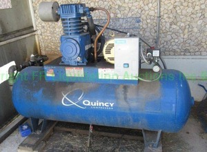 Quincy QT-5 air compressor. (Buyer will need to disconnect from air lines prior to removal)